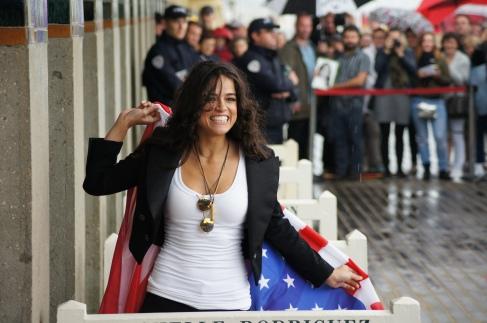 Michelle Rodriguez inauguration cabine Deauville