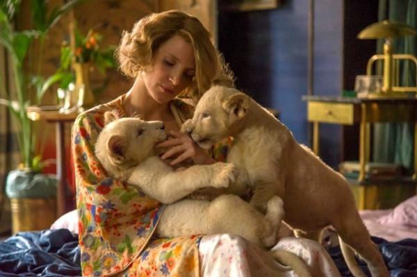 Critique la femme du gardien de zoo ; Jessica Chastain