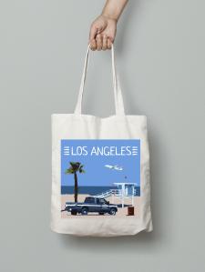 Los Angeles, tote bag Venice beach, playa del rey