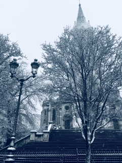 Snow on Paris, Paris, neige , church, eglise