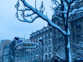 Snow on Paris, Paris, neige, subway, metro