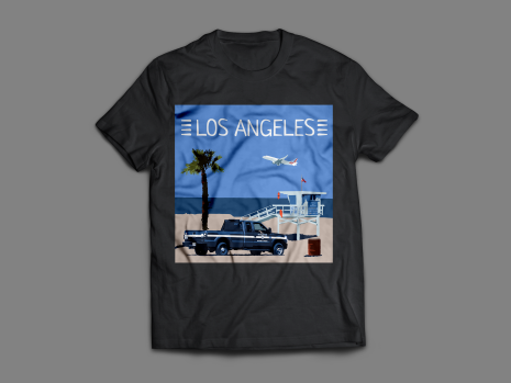 Los Angeles, tee-shirt, Venice beach, playa del rey