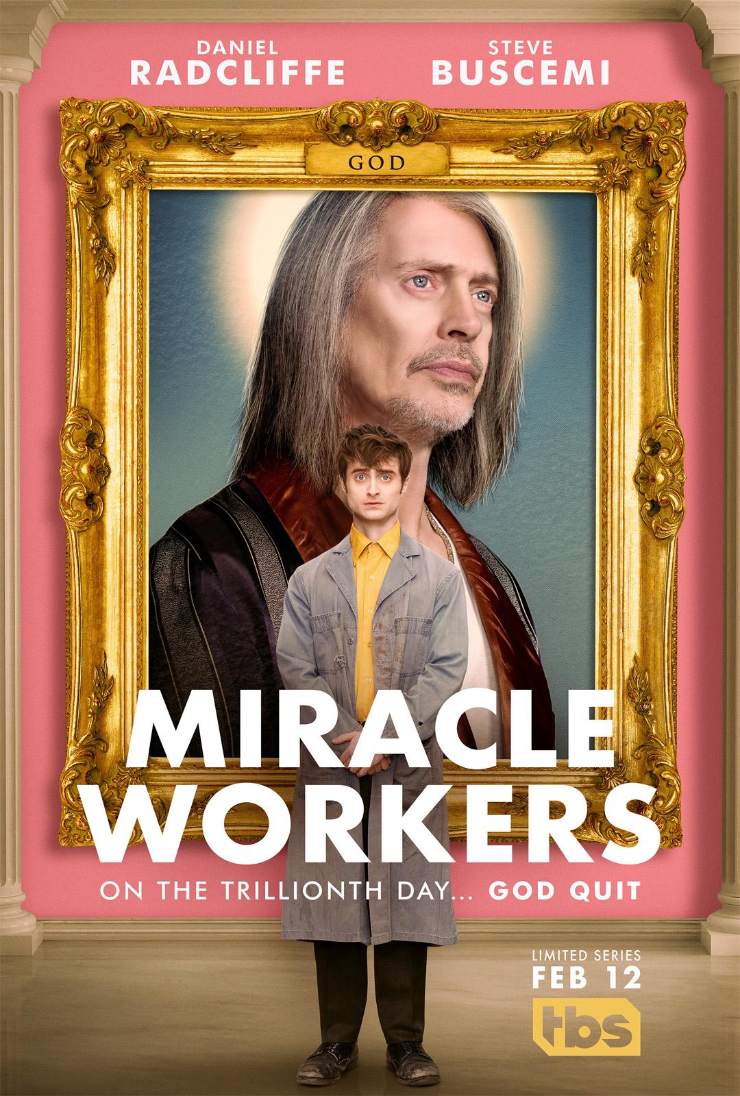 miracle workers critiques; avis miracle workers; daniel radcliff; Steve Buscemi; comédie