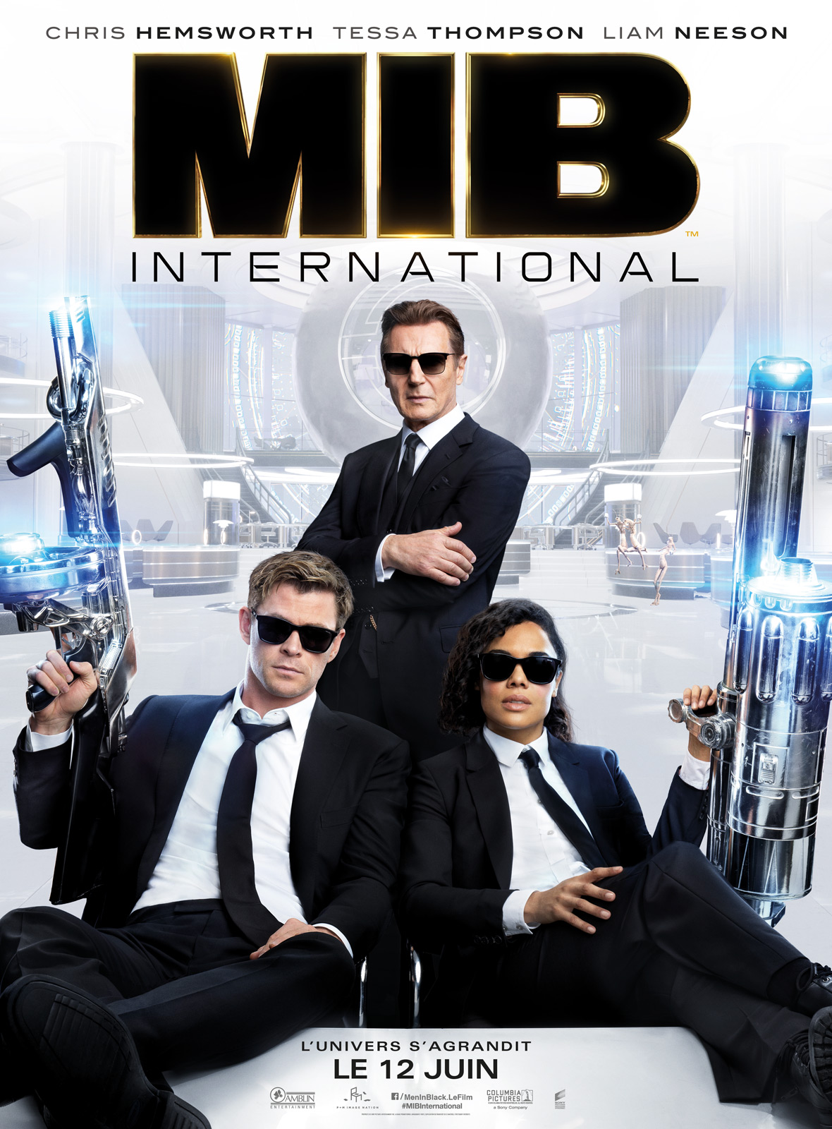 Men in Black:International critique,Chris Hemsworth;Tessa Thompson;Liam Nesson;Emma Thompson