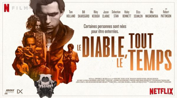 Le diable tout le temps avis; critiques le diable tout le temps; Robert Pattinson, Mia Wasikowska; Jason Clarke; Bill Skarsgard;Tom Holland; Harry Melling