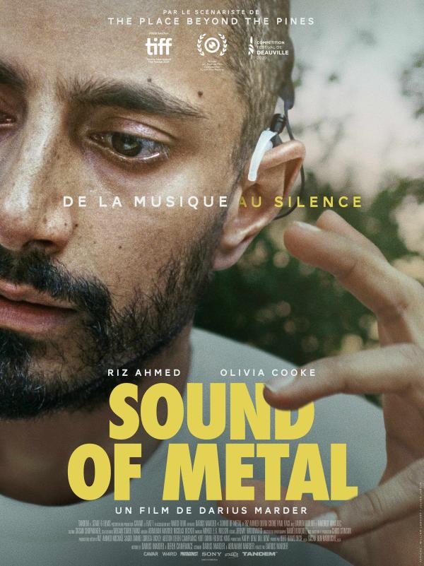 Suons of metal critiques; avis Sound of Metal; Tandem; Riz Ahmed; Olivia Cooke; Darius Marder; drame; festival de Deauville; festival international de Toronto; TIFF