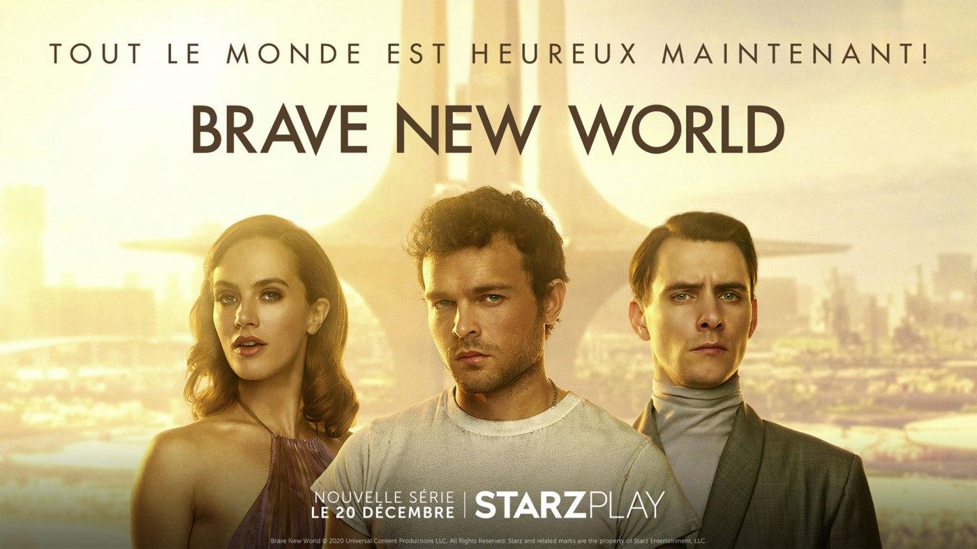 Aldous Huxley ; critique ; avis ; reviews ; Brave a new world ; Starzplay