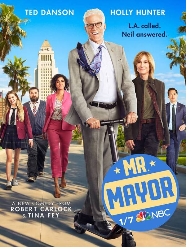 mr mayor ; avis ; critique ; reviews ; neil brewer ; ted danson ; holly hunter ; comédie ; LA ; NBC