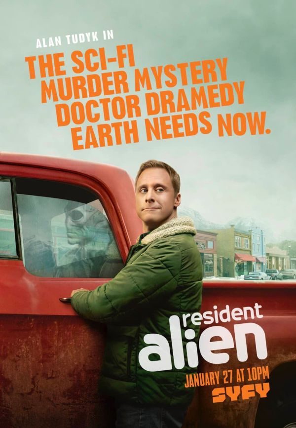 reviews ; critique ; avis ; resident alien ; comédie ; alan tudyn ; syfy
