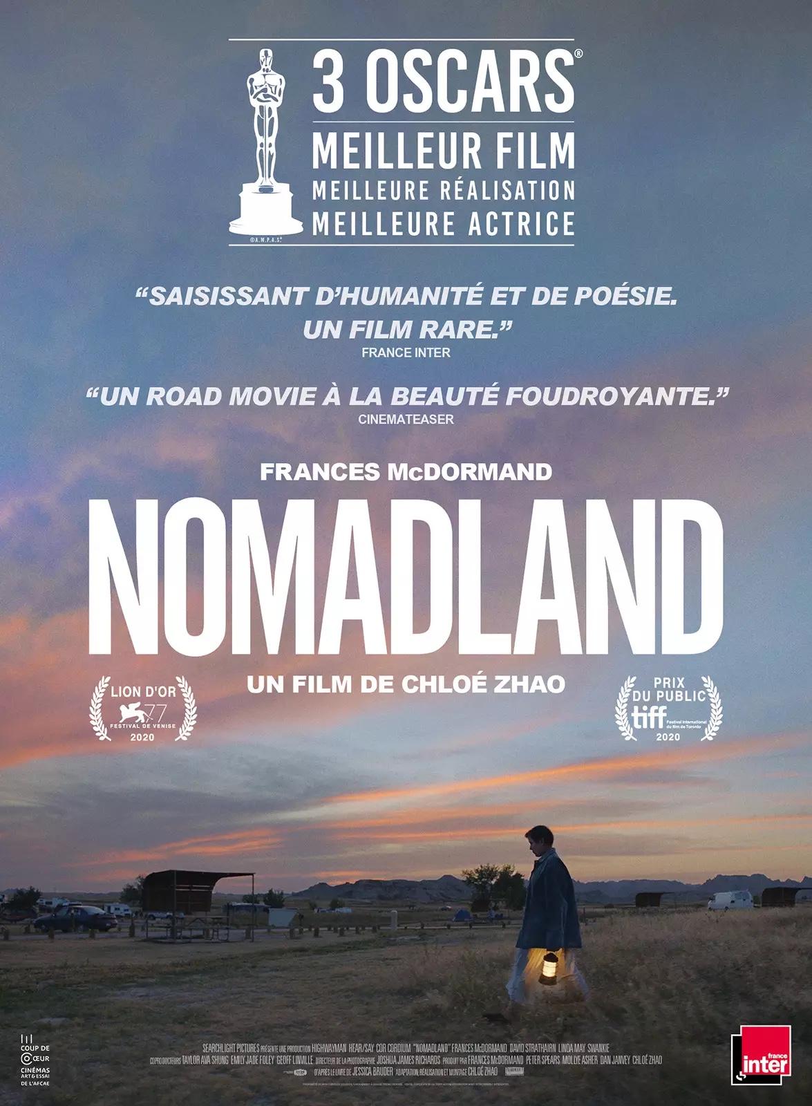 Nomadland avis; critiques Nomadland; Frances mc Doemand; oscars; Chloé Zhao