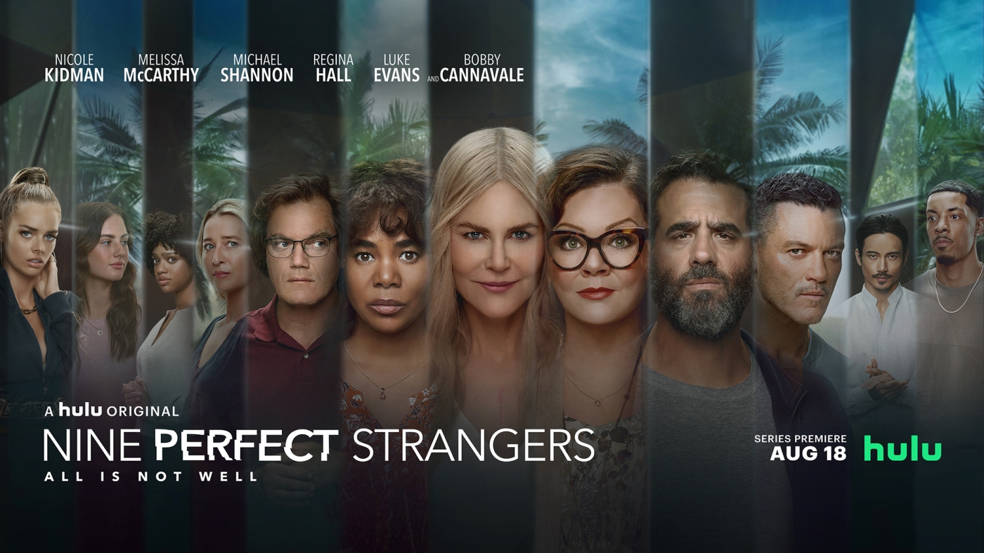 Nine perfect strangers ; review ; avis ; critique ; reviews ; nicole kidman; manny jacinto ; melissa mccarthy ; michael sahnnon ; luke evans ; samara weaving ; amazon prime ; hulu